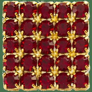 Bottone gioiello rosso