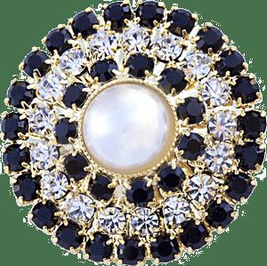Bottone dorato con perla