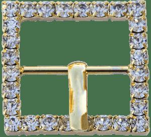 Fibbia quadrata oro