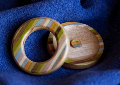 Accessorio legno colorato