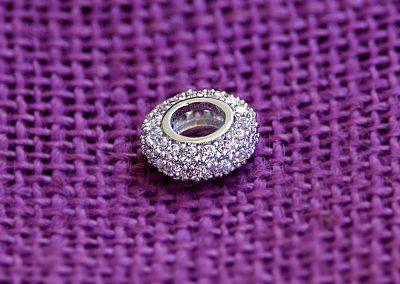 Anello argentato in ottone