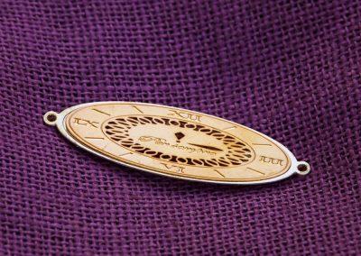 Accessorio in ottone - orologio romano