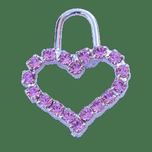 Tiralampo rosa cuore