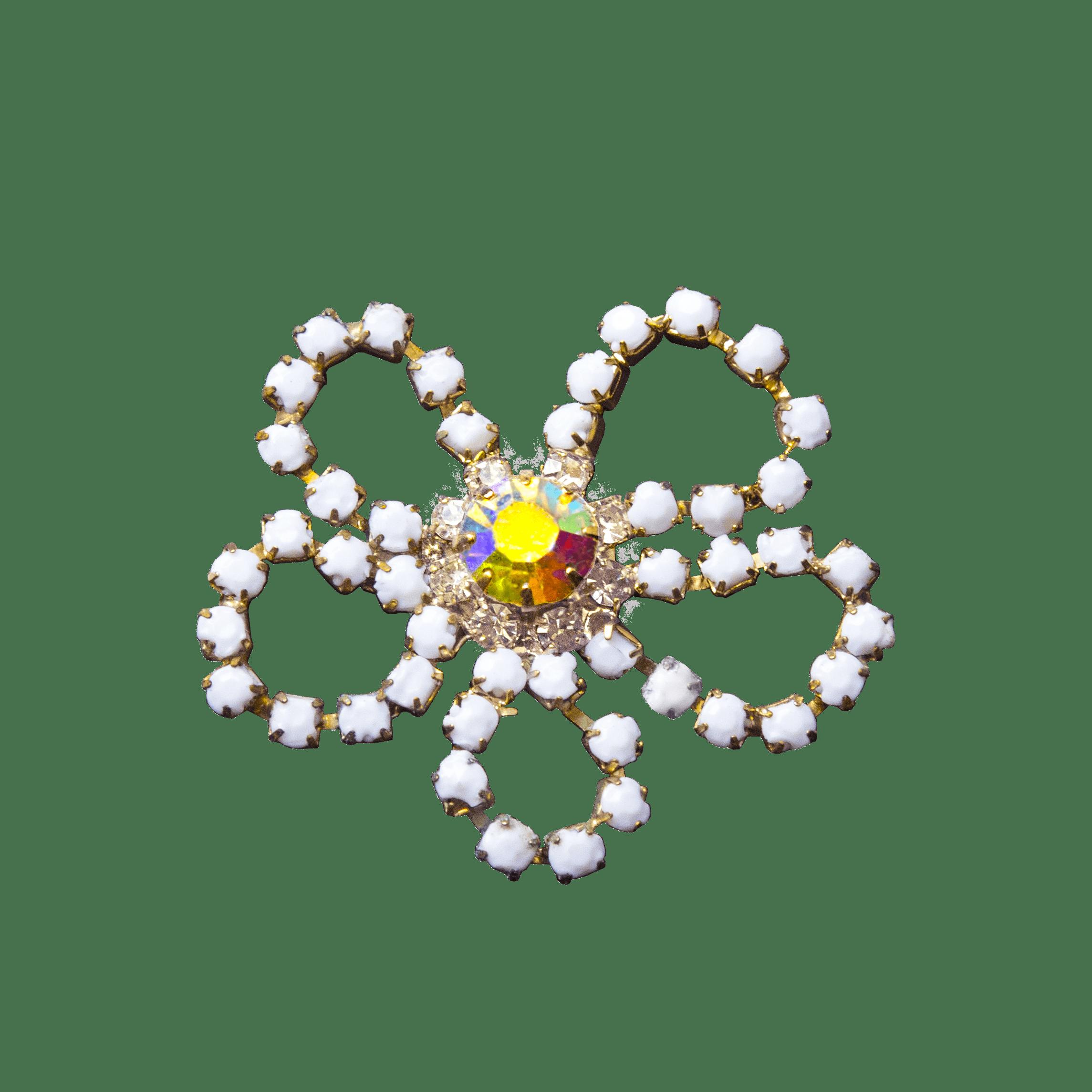 Applicazione fiore bianco