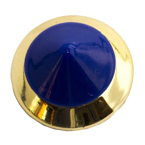 Rivetto circolare blu e oro
