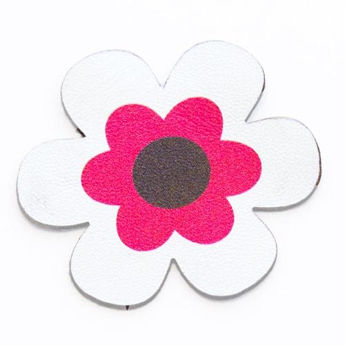 Fiore di stoffa fucsia e bianco