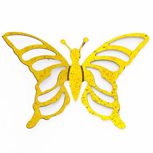 Applicazione farfalla in metallo dorato