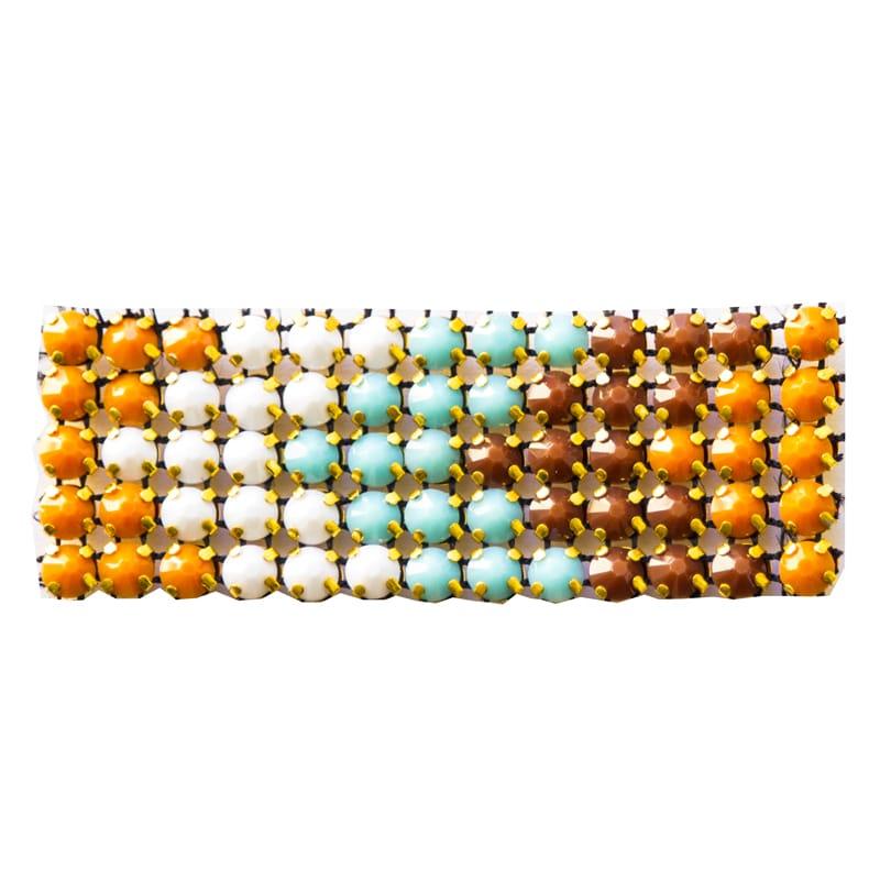 Applicazione in pietre multicolor