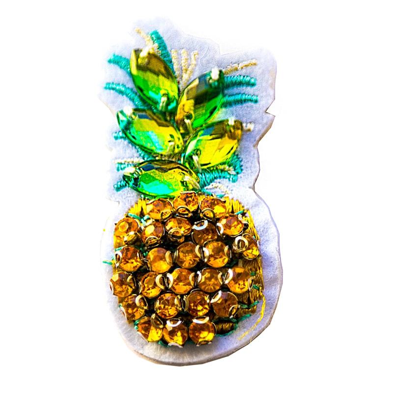 Applicazione ananas in perline