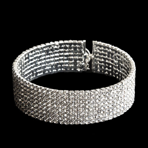 Collarino diamantato